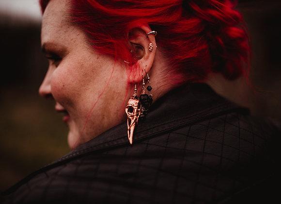 Raven Skull Earrings