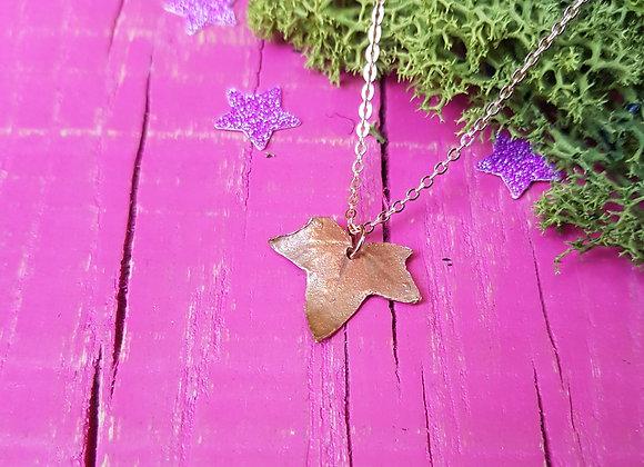 Tiny Copper Ivy Leaf