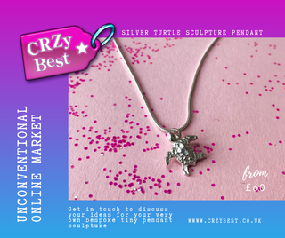 Tiny turtle pendant by CRZyBest