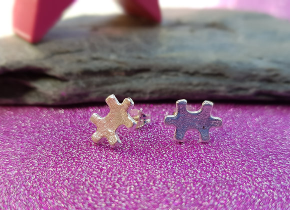 Jigsaw Puzzle Piece Earrings