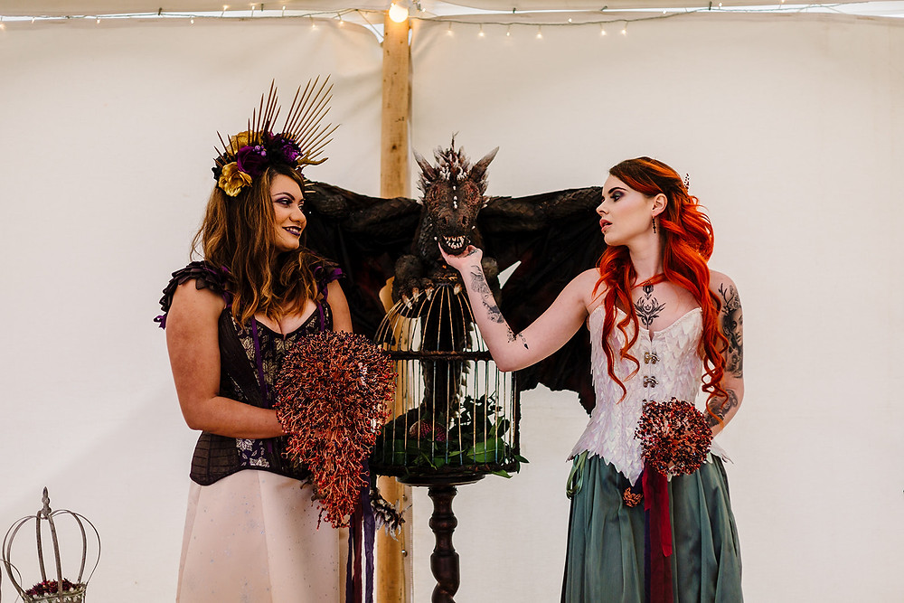 Game of Thrones inspired alternative bouquets