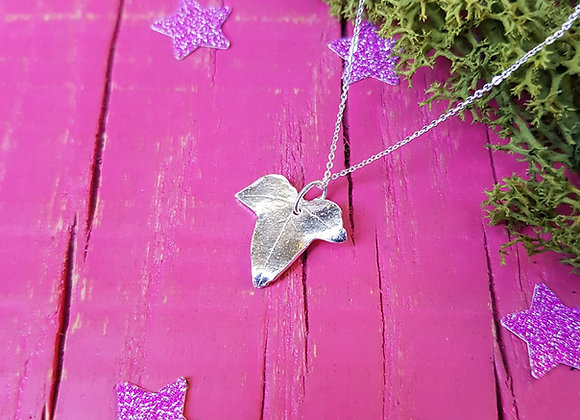 Tiny Silver Ivy Leaf Necklace