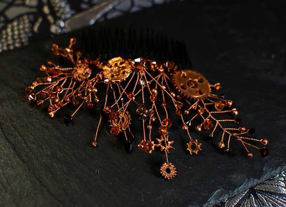 Copper Steampunk Hair Comb