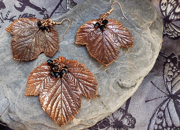 Blackberry Leaf Copper Pendant