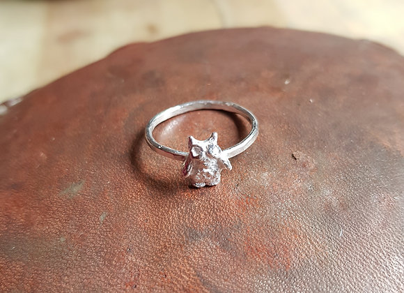 Silver Owl Eco Ring