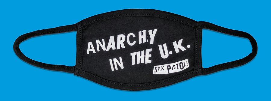 Anarchy in the UK Face Mask, Bravado. April 2020