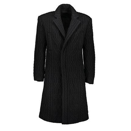 Alexander McQueen - Cable knit overcoat,