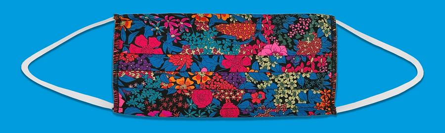 Tana lawn cotton face coverings, Liberty London. June 2020