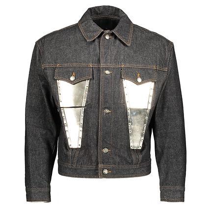 Junior Gaultier - Denim Jacket with Meta