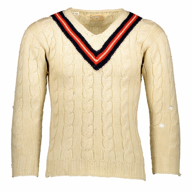 HAND KNITTED CRICKET JUMPER