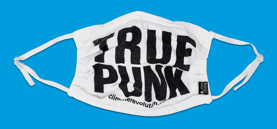 True Punk Face Covering, Climate Revolution. July 2020