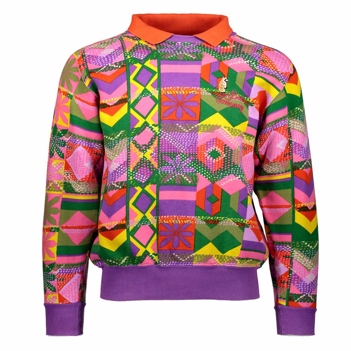 Latest acquisition: Best Company multicoloured printed sweatshirt