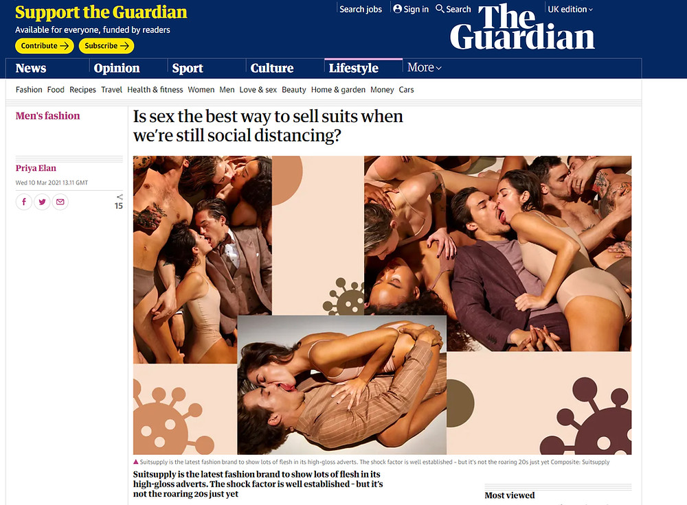 Article in The Guardian on suit adverts