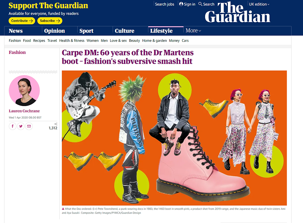 Article in The Guardian on Dr Marten boots