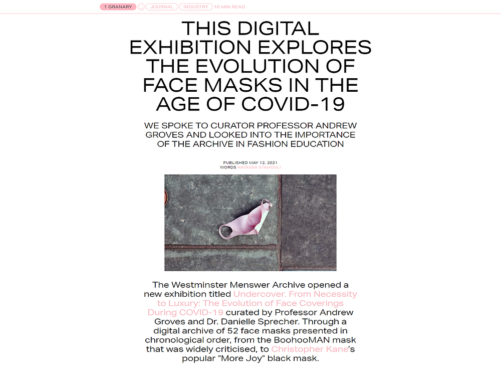 Article from 1 granary website on the Undercover exhibition opening