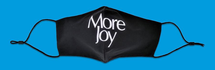 More Joy logo face mask, Christopher Kane. July 2020
