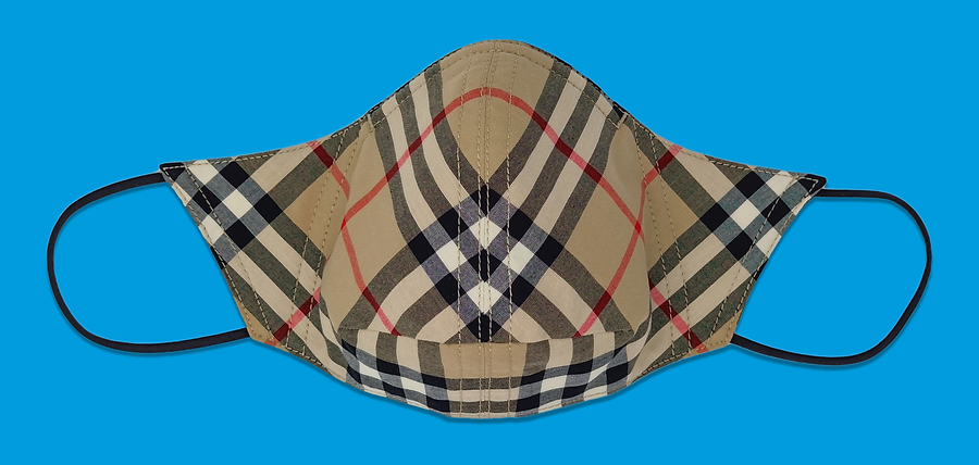 Vintage Check Cotton Face Mask, Burberry. October 2020
