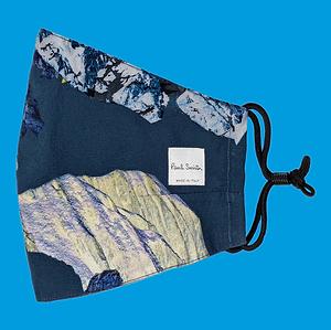 Mountain Print Face Covering, Paul Smith. December 2020