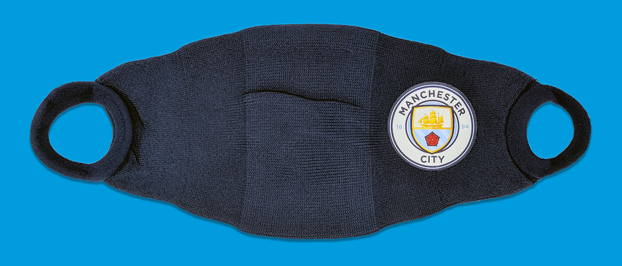 3 Pack face Coverings, Manchester City FC. June 2020