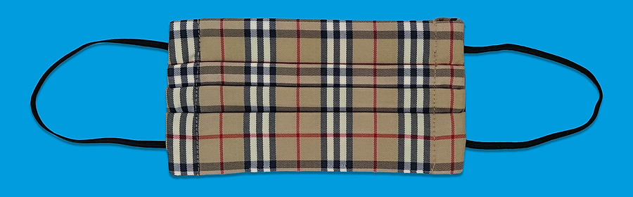 Recycled Burberry Nova Check Mask, in_house_check. August 2020