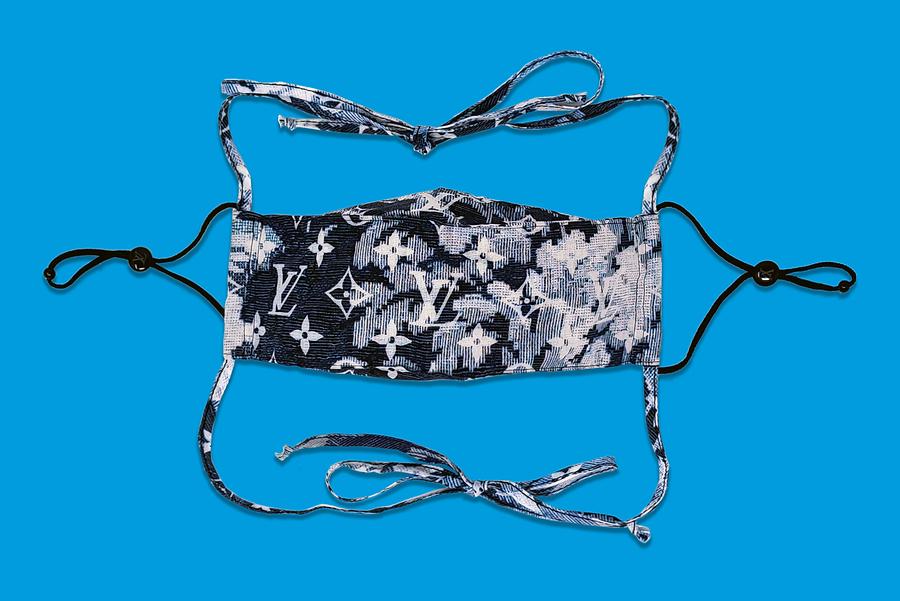 Monogram Tapestry Bandana Mask Cover Set, Louis Vuitton. November 2020