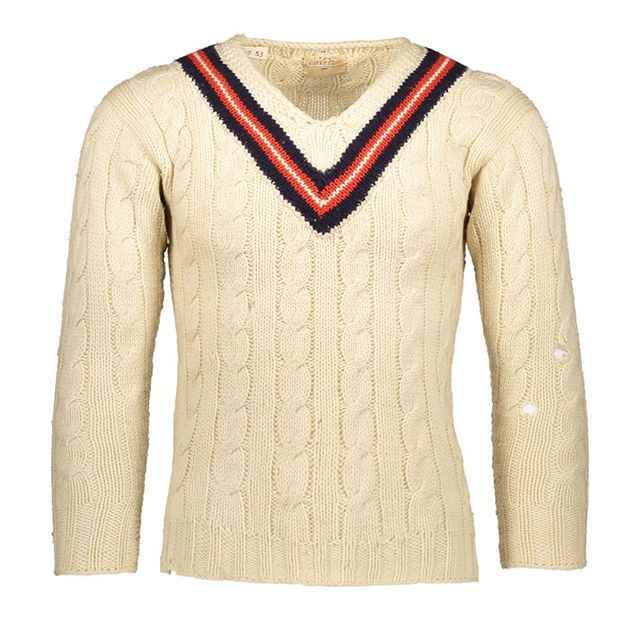 Latest acquisition:  Gieves V-neck Hand Knitted Cricket Jumper