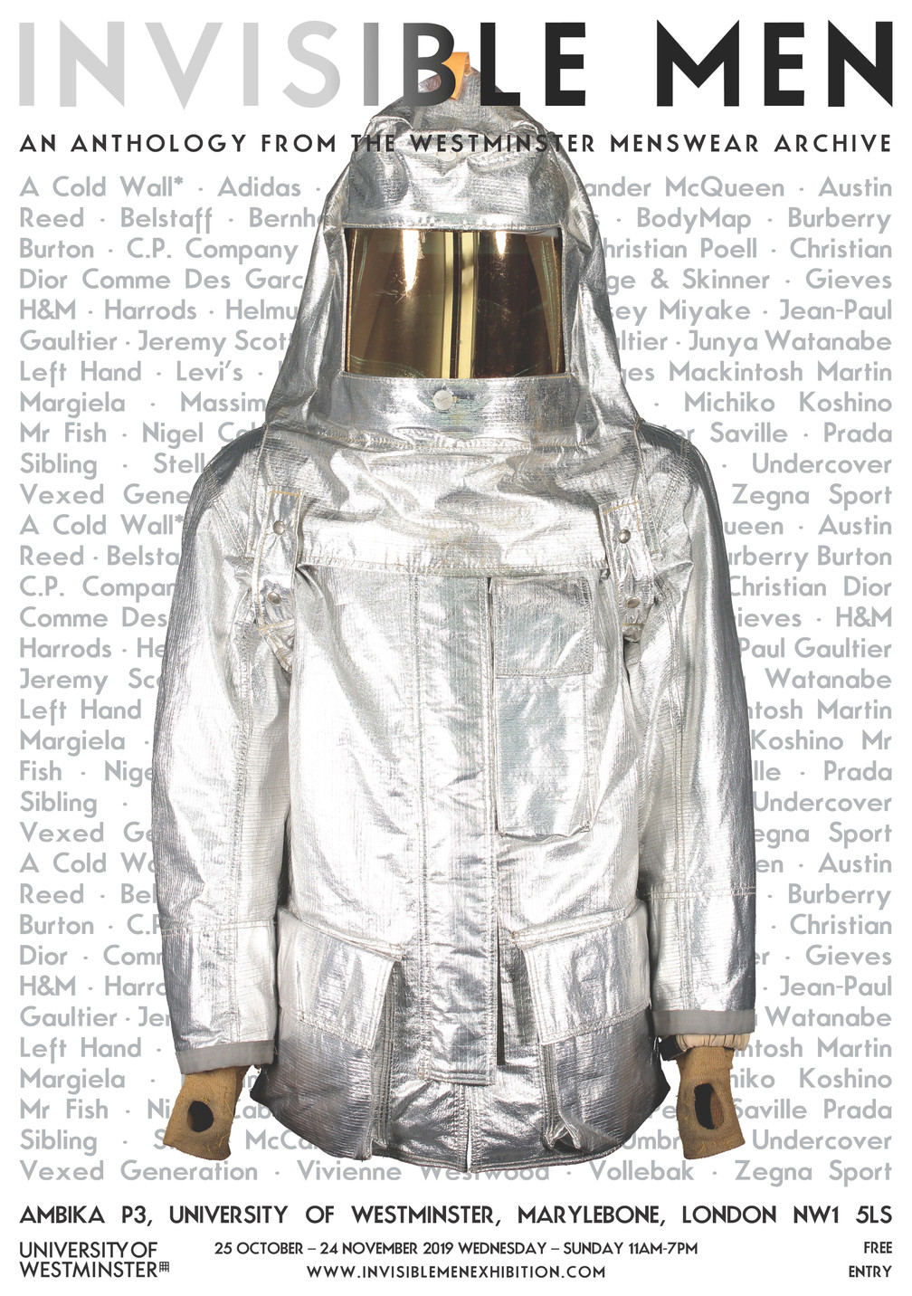 Westminster Menswear Archive announces Invisible Men exhibition, the largest exhibition of menswear