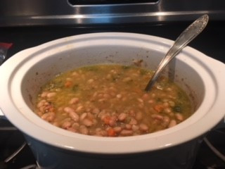 Slow Cooked Beans Prepared by Jenny Favret