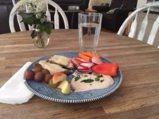 Plate of Healthy Snacks made by Jenny Favret