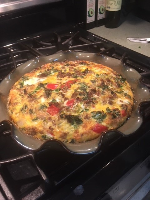 Photo of Jenny's quiche made with random things from the fridge!