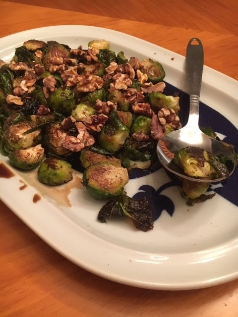 Brussel Sprouts Prepared by Jenny Favret