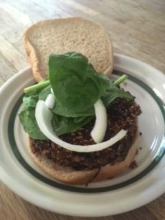 Photo of homemade black bean burger
