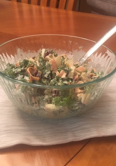 Kale Salad Prepared by Jenny Favret