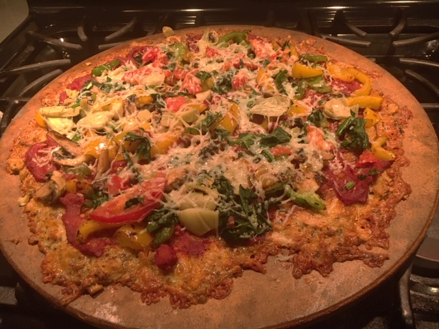 Homemade Pizza with LOTS of Veggies!