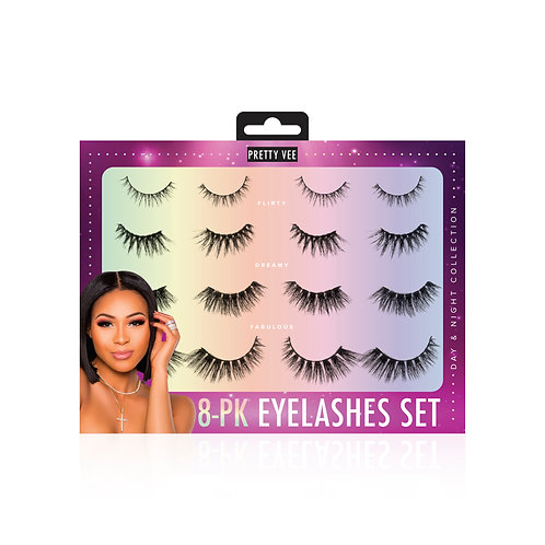 8-Pack Eyelashes Set