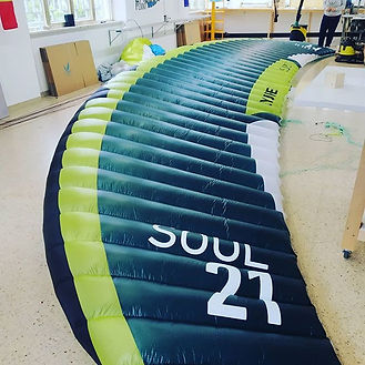 Riparazione flysurfer kite soul 21