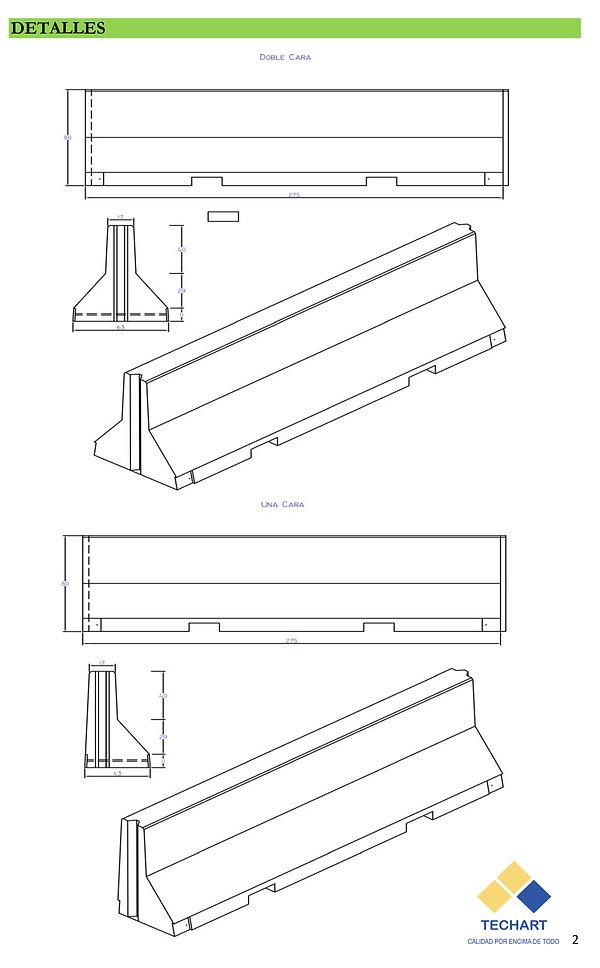 Barreras New-Jersey separadores viales hormigon armado