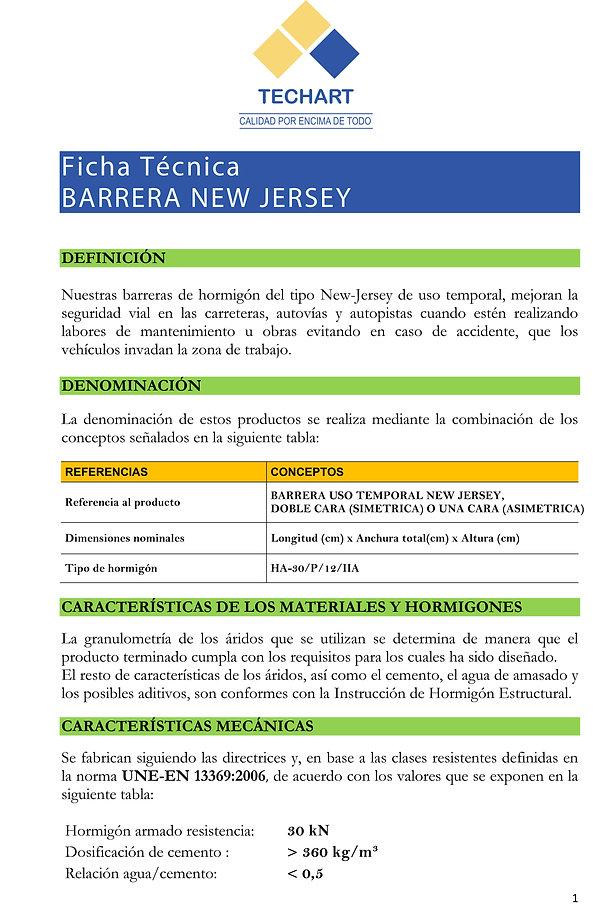 Barreras new Jersey  divisiones viales