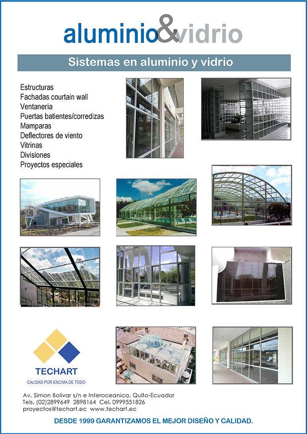 Aluminio y vidrio ventanas