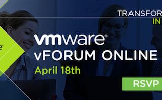 O vForum Online Spring 2018, maior conferência online da VMware, acontece no dia 18 de abril