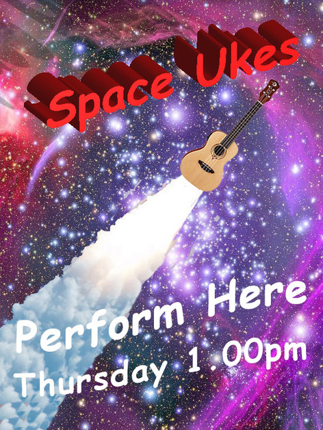 Space Ukes Poster Perform Here