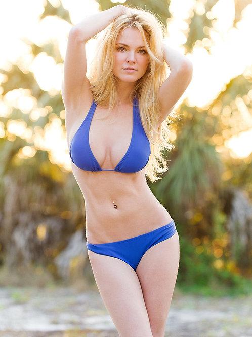 Katie DeLuca's Blue Bikini