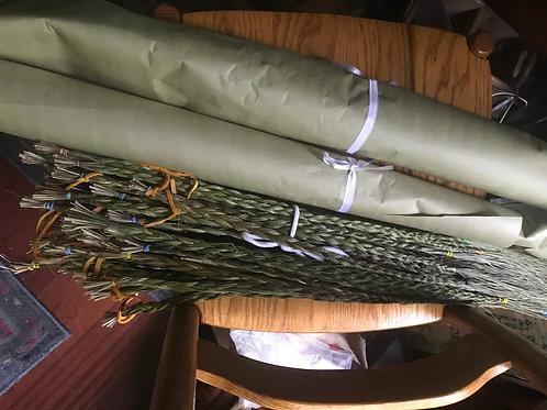 Fresh sweet grass braids
