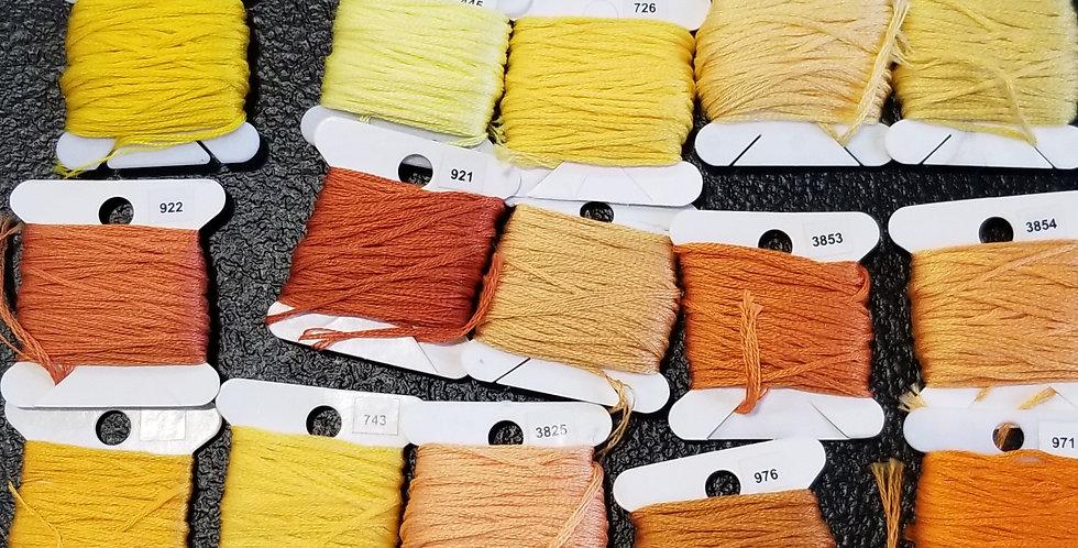 Yellow/Orange DMC Floss
