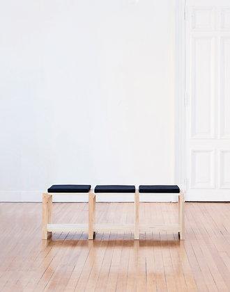 modulo banco tres asientos