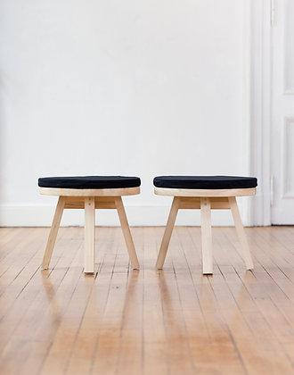 banco mesa con almohadon liso