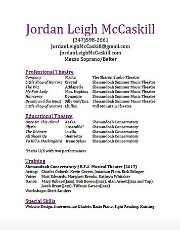 jordanleighmccaskill   Headshot/Resume
