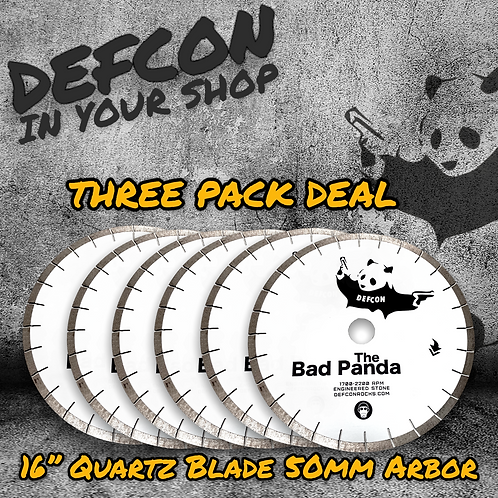 "SIX PACK - 16"" BAD PANDA QUARTZ & MORE BLADE"