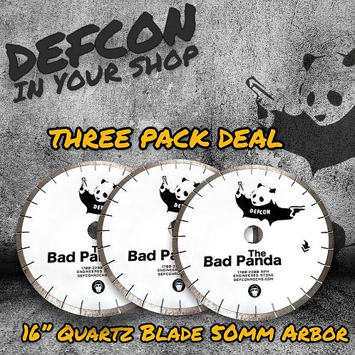 """THREE PACK - 16"""" BAD PANDA QUARTZ & MORE BLADE"""