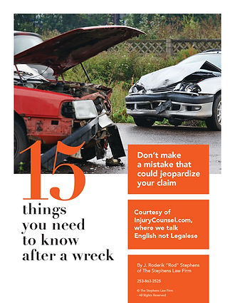Stephens Law Firm  What to do after a wreck